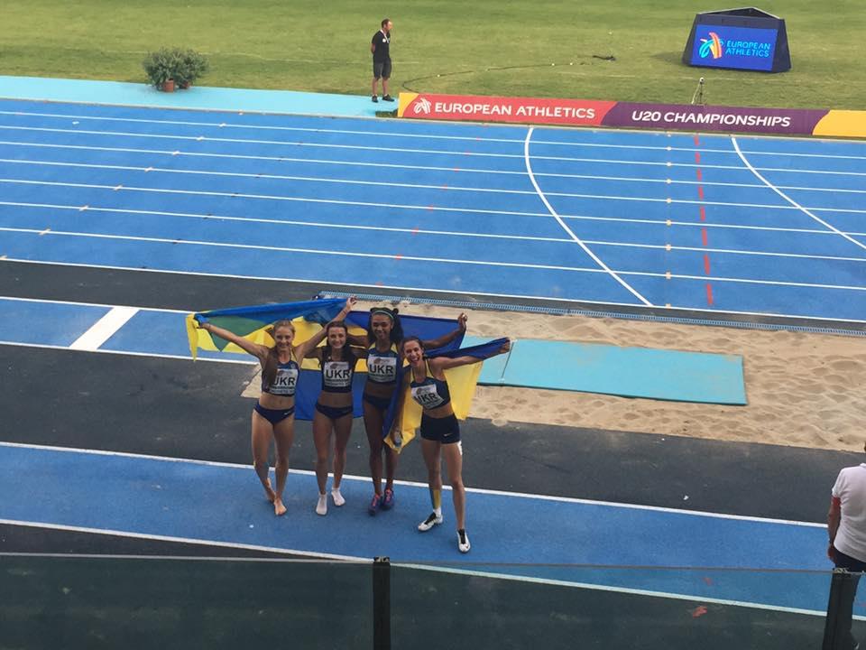 Естафетна команда 4×400м оновила юніорський рекорд України